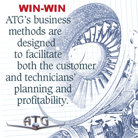 ATG's business methods are designed to facilitate both the customer and technicians planning and profitability.
